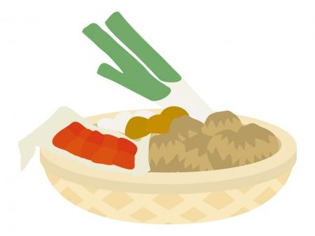 芋煮の具材のイラスト
