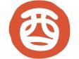 干支「酉(とり)」丸いハンコ風・文字イラスト