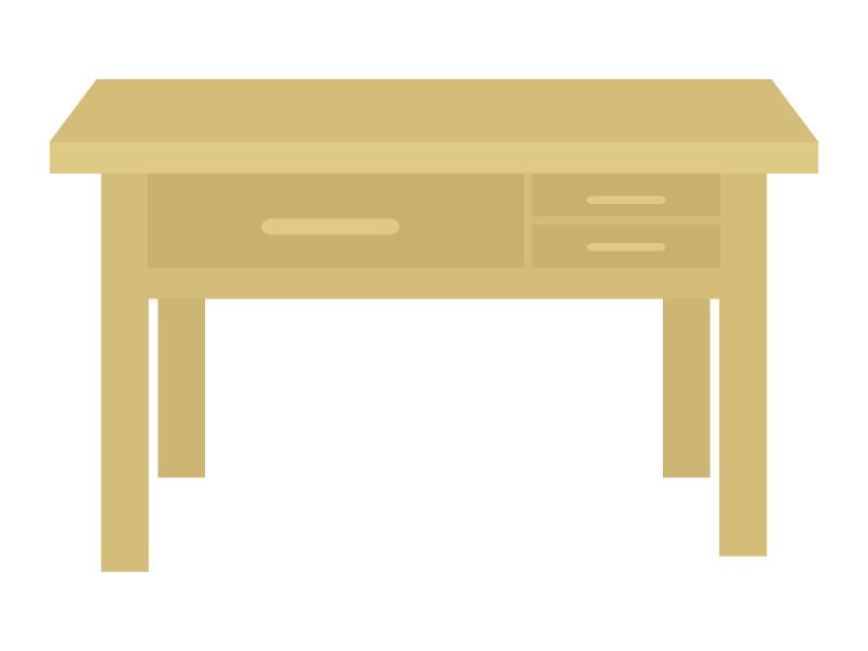 木の机のイラスト