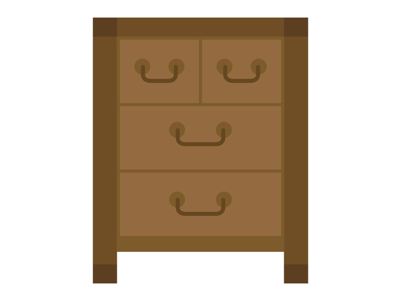 木製のチェスト