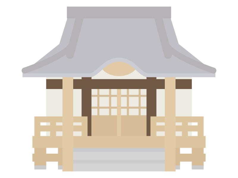 寺院・お寺のイラスト