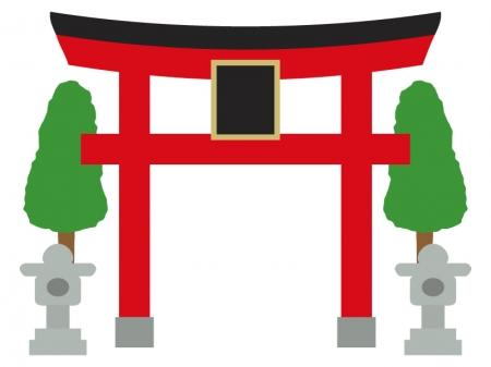 神社の鳥居のイラスト02