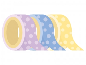 3色のマスキングテープのイラスト