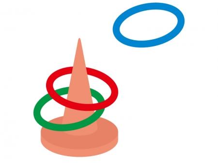輪投げのイラスト