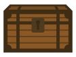 木の宝箱のイラスト