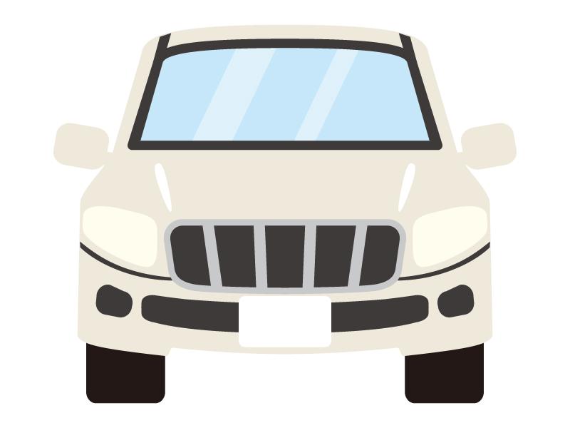 正面から見たSUV車のイラスト