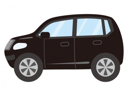 黒いSUV車のイラスト