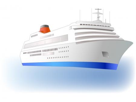 クルーズ客船のイラスト