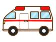 手書き風の救急車のイラスト