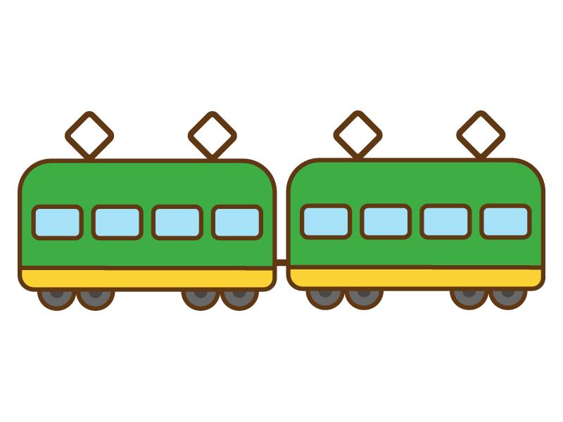 かわいい電車のイラスト