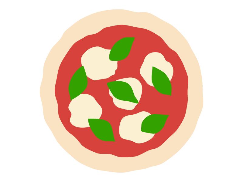 マルゲリータピザのイラスト