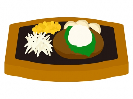 和風おろしハンバーグのイラスト