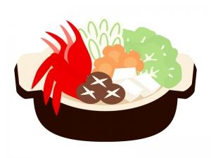 カニの寄せ鍋のイラスト
