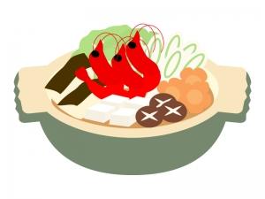 海老の寄せ鍋のイラスト