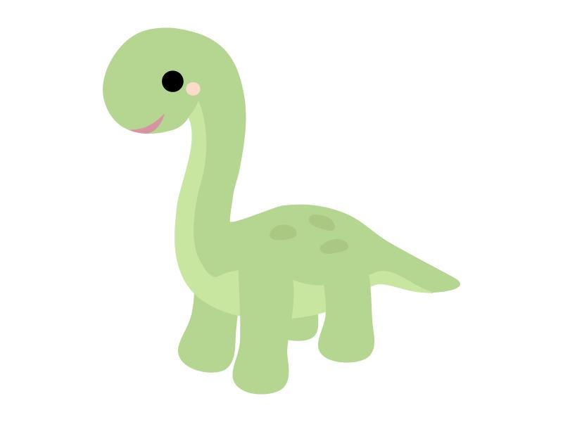 かわいい恐竜(ブラキオサウルス)のイラスト