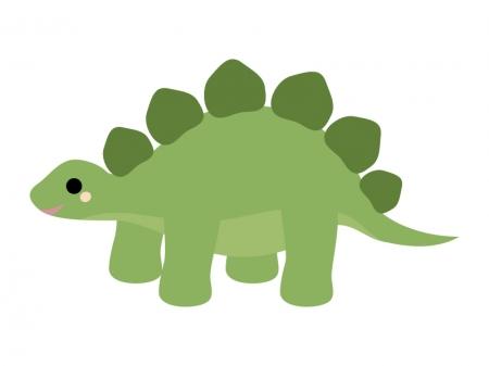 かわいい恐竜(ステゴザウルス)のイラスト