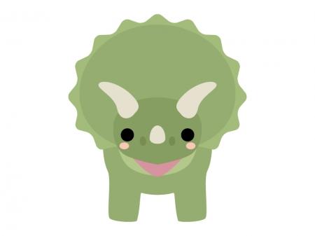 かわいい恐竜(トリケラトプス)のイラスト