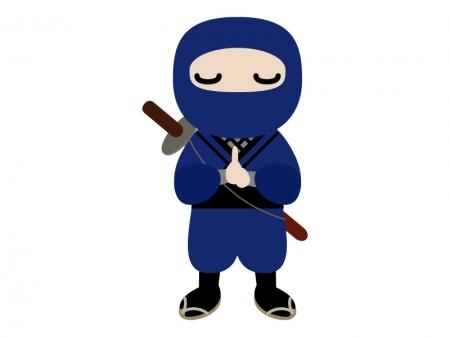忍術を使う忍者のイラスト