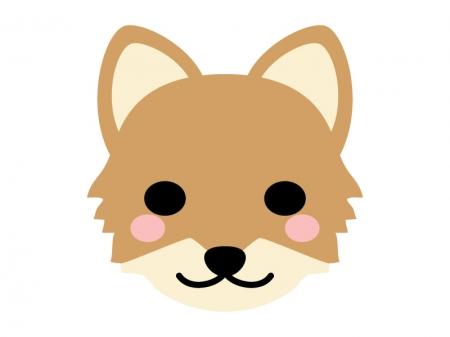 キツネの顔のイラスト