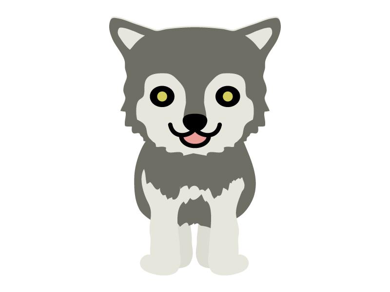 オオカミのイラスト02