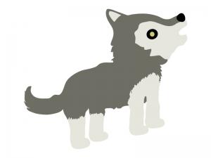 オオカミのイラスト03