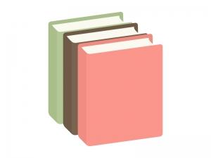 三冊の本・BOOKのイラスト