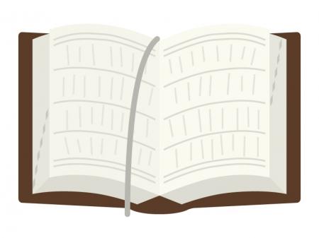 見開いた辞典・辞書のイラスト