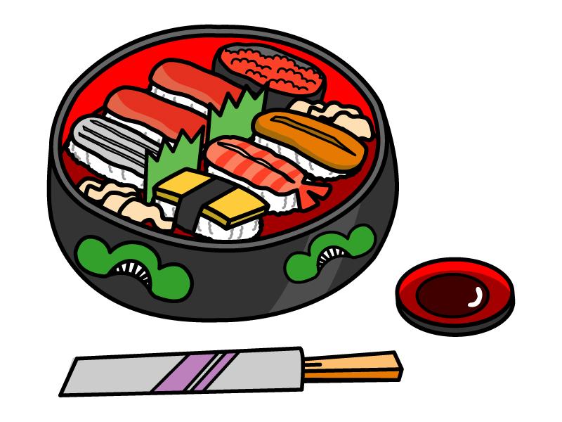出前のお寿司・握り寿司のイラスト