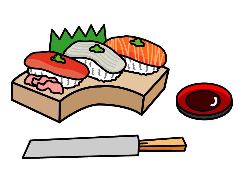 お寿司・握り寿司のイラスト素材03