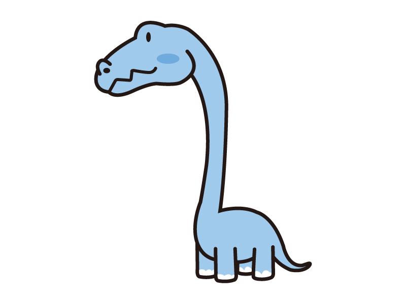 かわいい首長の恐竜のイラスト