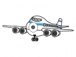 飛行機のイラスト04