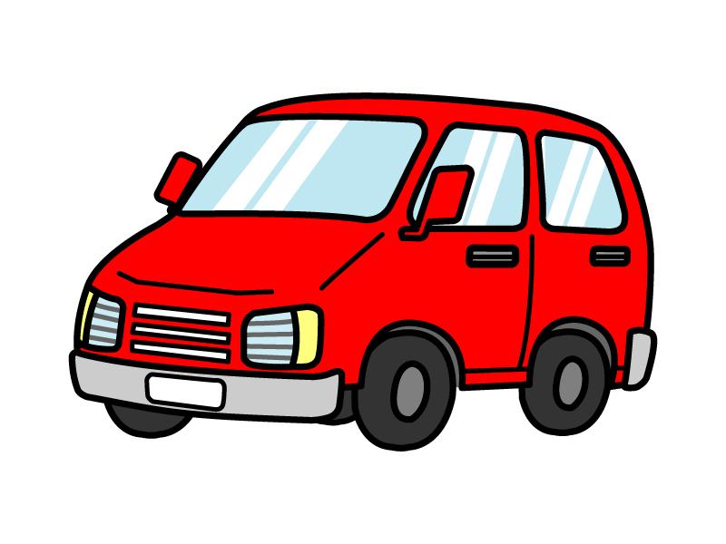 赤い自動車のイラスト