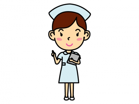 女性の看護師さんのイラスト02