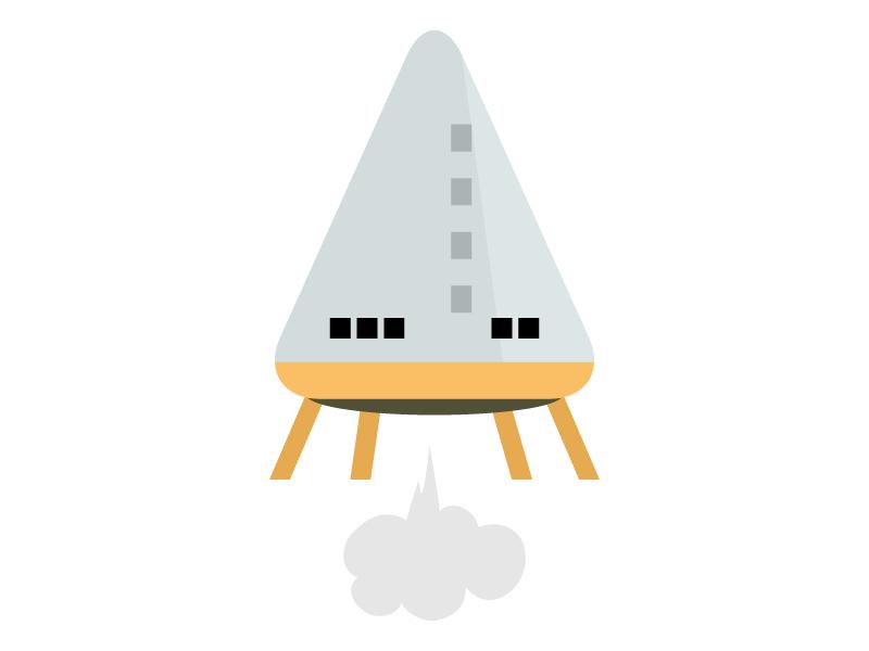 ロケットのイラスト03