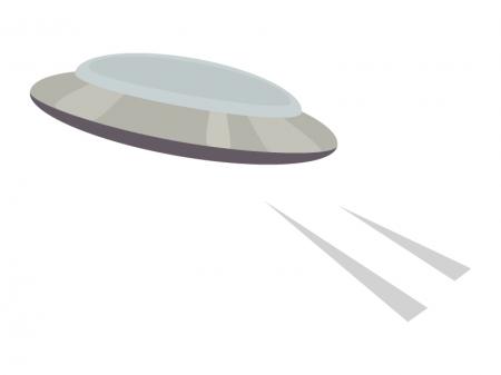 円盤型UFOのイラスト