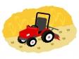畑とトラクターのイラスト03