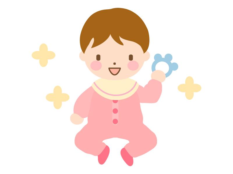 笑っている赤ちゃんのイラスト