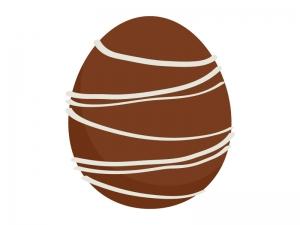 イースターエッグ・チョコのイラスト