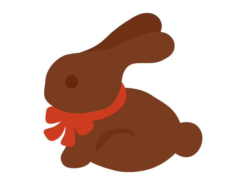 イースター・ラビットのチョコのイラスト