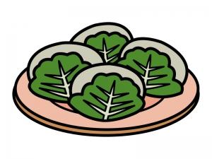 子供の日・柏餅のイラスト
