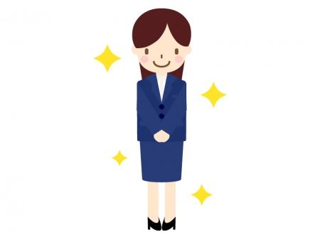 新入社員をイメージした女性のイラスト03