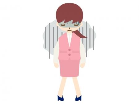 5月病・憂鬱のOLのイラスト02