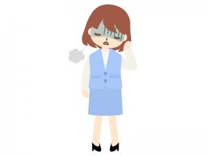 5月病・憂鬱のOLのイラスト03