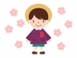 桜と園児のイラスト02
