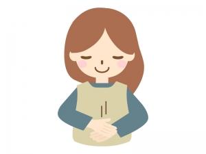 手話の「ありがとう」のイラスト