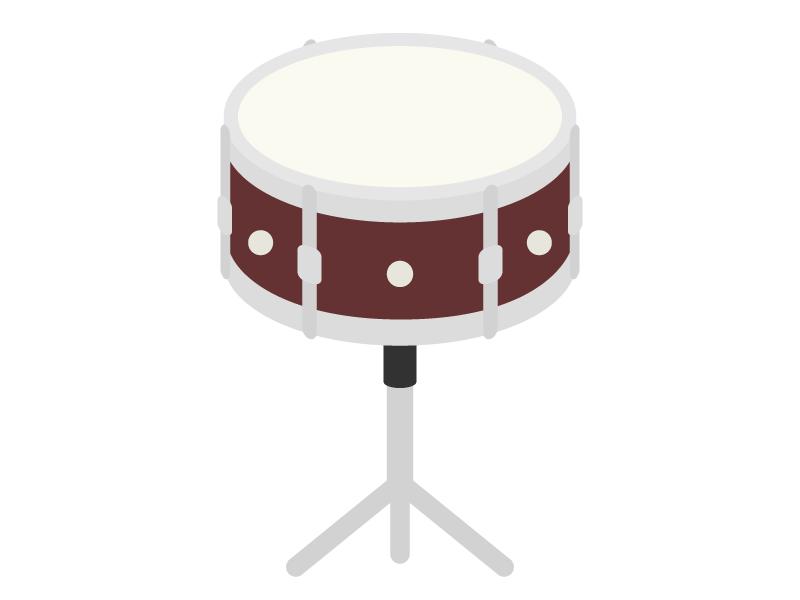 楽器・ドラムの太鼓のイラスト