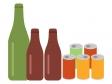 空き瓶・空き缶のイラスト