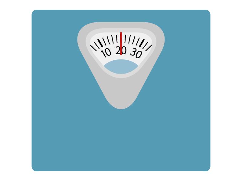 アナログの体重計のイラスト
