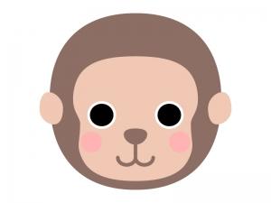 猿(顔)のイラスト