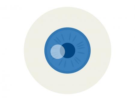 青い目・瞳のイラスト
